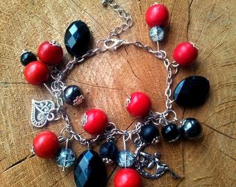 Red Berry Bracelet-Beach-Summer-Boho Chain Bracelet