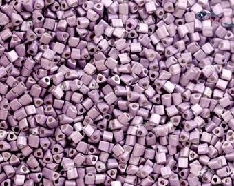 TOHO 11/0 Triangle Beads - Galvanized Matte Lavender [TG-11-554F]