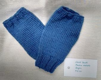 Light Blue Fingerless Gloves - Adult Small