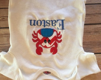 Personalized  Summer Crab Onesie/Shirt