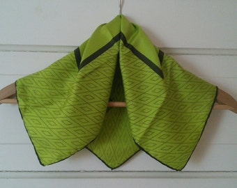 Lime and Olive Silk bandanna