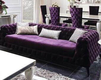 Pisa Velvet Sofa