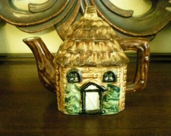 Vintage Small Petite Cottage Teapot Japan