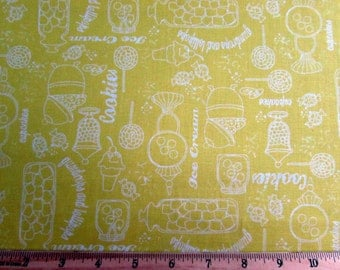 Gum Drops and Lollipops Yellow Fabric From Quilting Treasures