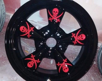 DIY vinyl car rim decals