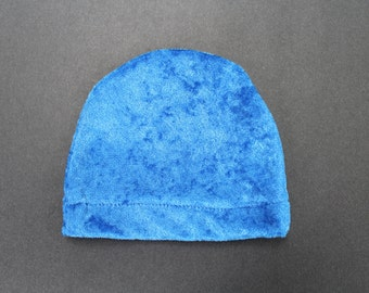 Infant shiny blue hat