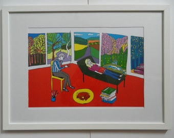 Art therapy with David Hockney