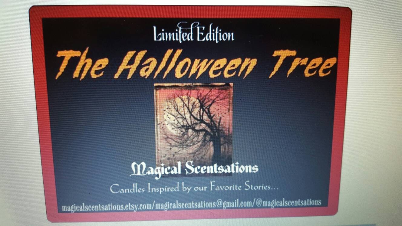 the halloween tree candle (inspiredray bradbury's the halloween