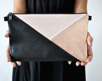 Leather Clutch, Handbag, Evening Clutch, Leather Crossbody Bag