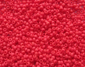 Toho seed beads 11/0 opaque frosted cherry