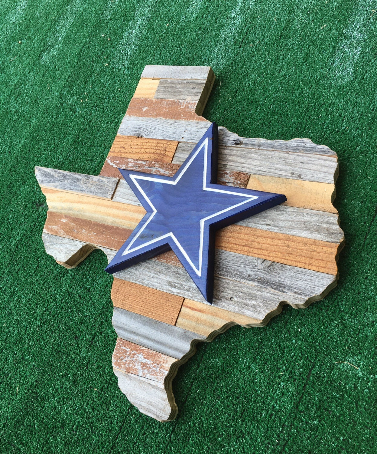 Dallas Cowboys Welcome Home Sign: 20x20 Reclaimed Dallas Cowboys Sign