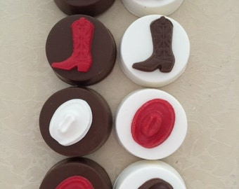COWBOY Chocolate Covered Oreos(12 qty)-Cowboy/Cowboy Boot/Party Favor/Western Party/Rodeo Favor/Western Party/Cowgirl Party