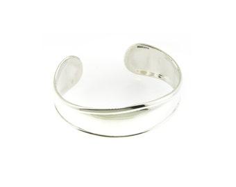Monogrammed 925 Sterling Silver Tapered Cuff Bracelet