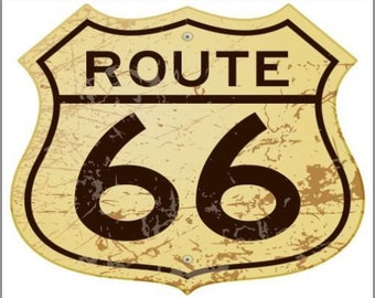 "2"" x 3"" Magnet Collectible Route 66 Road Sign MAGNET"
