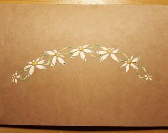 Blue Daisy Chain Greetings Card