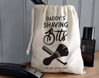 Shaving Storage Bag - Personalised Shaving Bag For Dad - Shaving Bits Storage Bag - Shaving Gift - Dad Beard Gift