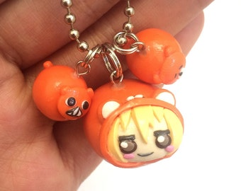 Kawaii Hamster Girl Clay Charm Set