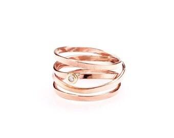 Demi - Rose Gold & Diamond Ring