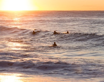 Sunrise Sydney Surfers travel photography portrait print