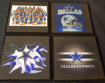 Dallas Cowboys Handmade Ceramic Tile Drink Coaster Set / Dallas Cowboys Football Drink Coasters
