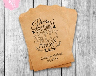 Set of 20 Wedding Favor Bags Wedding Favors Personalized Cookie Buffet Bags Candy Bar Bags Wedding Gift Idea Custom Wedding Favors Style 013