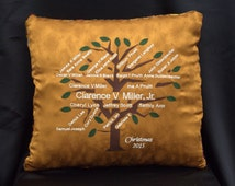 Family Tree Pillow - Personalized Family Tree Pillow -7 Generations - Custom Family Pillow - Family Tree Gift -Genealogy Pillow