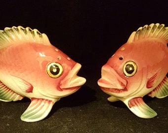 Red Tropical Fish Salt & Pepper Shakers