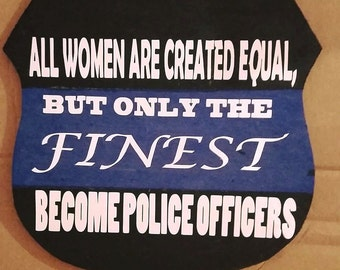 Police Badge Wooden Sign