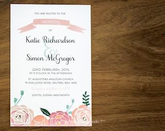 LOVE ME TENDER Wedding Invitation Collection
