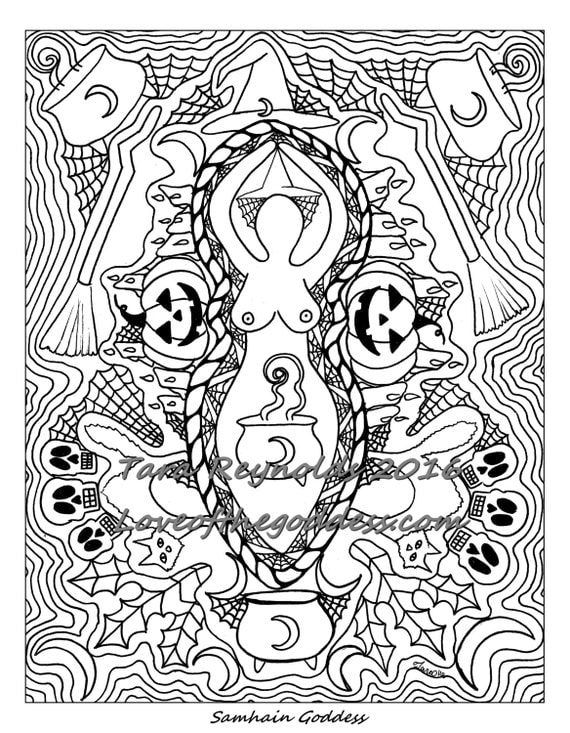 free wiccan coloring pages - photo#39
