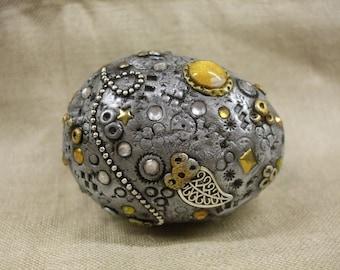 Silver Dragon Egg OOAK Sculpt