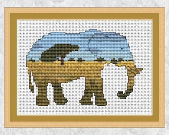 Elephant Cross Stitch Pattern Printable Cross Stitch Pattern