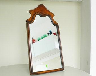 antique mirror dressing table mirror walnut easel back freestanding elegant toilet mirror