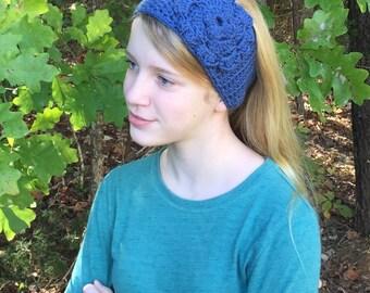 Crochet Headwrap, flowers, crochet headband, turban headband, ear warmer, fall, hair, accessories, winter, MANY colors, head wrap
