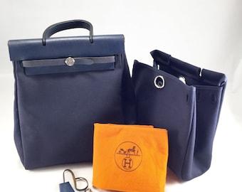 Hermes Herbag Ado 2 in 1 blue - Tote & Backpack
