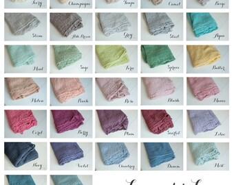 Pick 3 - Newborn Wrap Set : Cheesecloth Wrap Newborn Photo Prop, Newborn Wraps