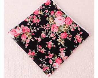 Floral Pocket Square | Flower | Groom | Men | Wedding | Handkerchief | Fall | Ideas | gifts |  for him