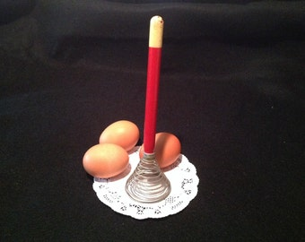 Vintage Red Handle Egg Beater