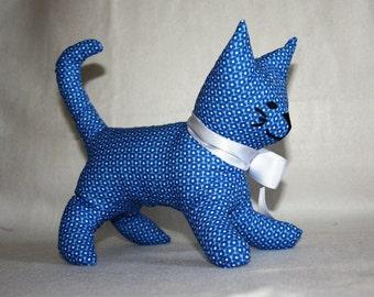 Fabric cat stuffed animal * cat * feline
