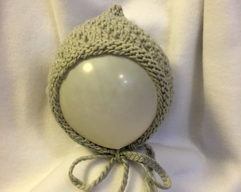 Knit lacy baby/kids pixie hat