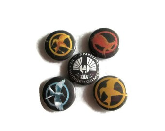 "Hunger Games Inspired 1"" MAGNETS or PINS"
