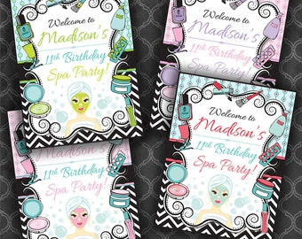 Spa Birthday Party Birthday Welcome Sign - Color Options / Digital File