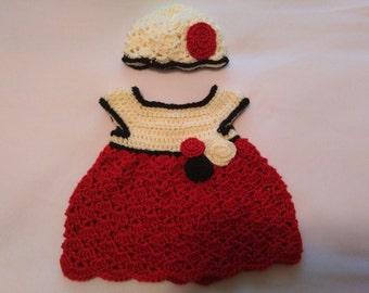 Handmade Crochet baby dress
