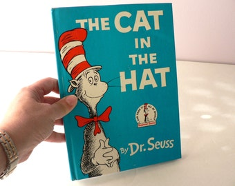 Vintage The Cat in the Hat Story Picture Book / Dr. Seuss Picture Book / Children's Classic Storybook