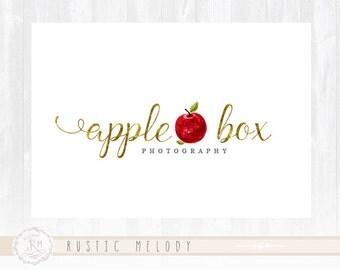 Apple Logo Fruit Logo Photography Logo Design Boutique Logo Watercolor Logo Decor Logo Design Watermark
