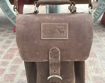 Distressed Leather Messenger Bag Leather Satchel Leather Laptop Bag