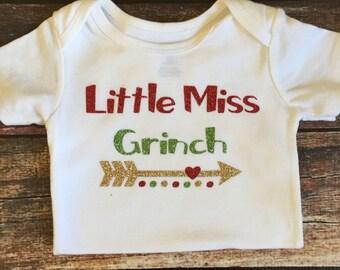 Little Miss Grinch Onesie