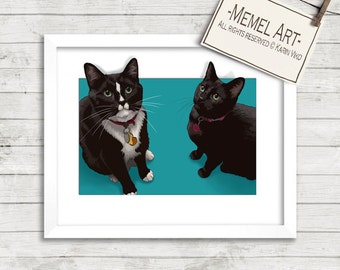 Pet Portraits. Custom portrait from photo. Custom drawing. Dog. Animals. Gift for.