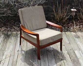 Mid Century Danish style teak lounge chair