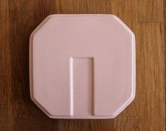 Pink Geometric Plate